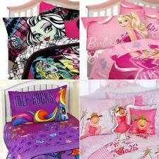 nEw GIRLS ROOM BED SHEETS SET - Pony Barbie Monster High Bedding Pillowcase
