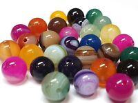 Bunte 4mm Achat Perlen Poliert Natur Streifen Edelsteine Achatstein BEST G835