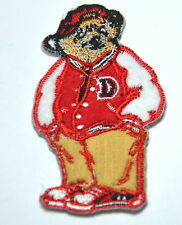 10cm TEDDY BASEBALL JACKET    Embroidered Sew Iron On Cloth Patch Badge APPLIQUE