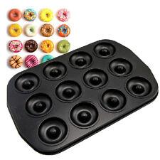 Round shape Carbon Steel Doughnut Donut Non-stick Coating Cake Maker Pan Mold