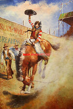 """36x48""""100%Hand Painted Oil Flat,World Famous Painting, Horse Racing"""