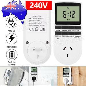 Digital Timer Switch Socket Electric Programmable Power 240V AU Plug Clock NEW