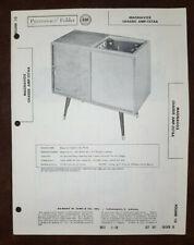 Set 387 Folder 10 Sams Photofact Rare Vintage Magnavox