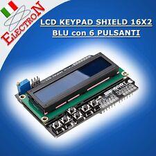 LCD KEYPAD SHIELD 16X2 BLU + 6 PULSANTI  x ARDUINO HD44780 1602 BUTTONS