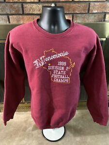 Menomonie Indians 1999 State Champions Football Sweatshirt Mens Sz Large Vintage