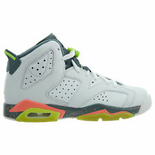 Nike Kids/' Air Jordan 6 RETRO BP Shoes White//Green//Mango 384666-114 a