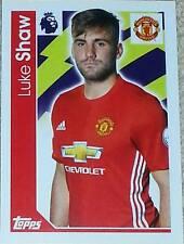 190 Luke Shaw MANCHESTER UNITED 2016/2017 Topps Merlin Premier League sticker