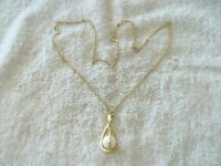 "Vintage ""Avon"" Pendant, Caged Pearl Design, Gold Tone Metal, Faux Pearl"