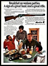 1981 Marlin 336 Lever Action Rifle Ad w/ Venison Patties recipe