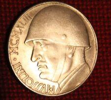 Medaglia 20 lire Mussolini MCMXLIII e disco Vinile