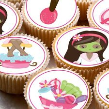 24 Edible cake toppers decorations Pamper Spa day party beauty treatments