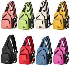 Men Women Travel Chest Sling Bag Hiking Cross Body Messenger Shoulder Backpack-