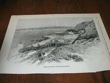 1886 Art Print Engraving - Drying Codfish in Newfoundland Fish Fishing