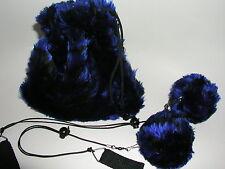 Tiger Pois in blau - schwarz Kiwido Komet Poi
