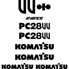 Komatsu PC28UU  Decals Stickers, repro Kit for Mini Excavator