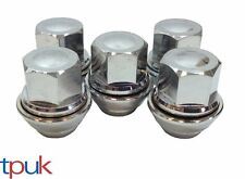 BRAND NEW FORD MONDEO WHEEL NUT NUTS SET OF 5 SOLID CHROME TOP QUALITY ALLOY