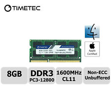 Timetec 8GB DDR3 1600MHz PC3-12800 Non-ECC 1.35V 2Rx8 SODIMM Apple Memory RAM