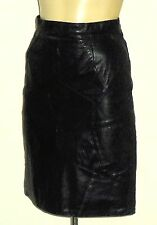 ME BlackLeather(*)GeometricPatchworkShortSkirt Size10