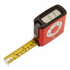 eTape16 Digital Tape Measure, Ruler, Construction Tool - Red NEW