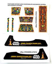 Kenner JAWA SANDCRAWLER Vintage Star Wars replacement Sticker set + BONUS