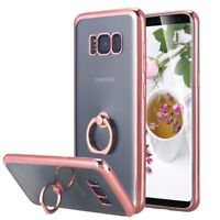 Samsung Galaxy S8 Plus Case Protective Cover With Ring Grip Holder Rose Gold