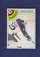 Lucien Deblois RC 1978-79 O-PEE-CHEE OPC Hockey #136 (NM) New York Rangers