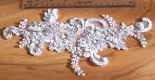 Punta aplicación blanco t-1 ssp-con plata hilo u perlas novia Mode DIY