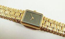 Lassale by Seiko Gold Tone Metal 1E50-0290 Black Dial Sample Watch NON-WORKING