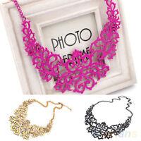 EG_ Awesome Womens Vintage Hollow Pendant Bib Choker Necklace Statement Collar C