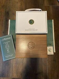 🔥Limited Edition Masters Wood Box Ball Set w/ Berckmans Logo Pro V1's *RARE*🔥