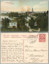KONSTANZ GERMANY ANTIQUE POSTCARD w/ STAMP