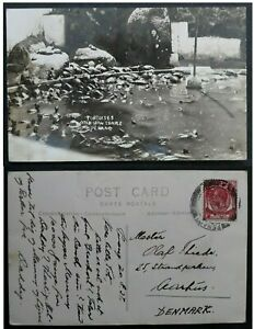 "RARE 1937 Straits Settlements ""Real Photo"" Postcard ties 6c stamp Penang"