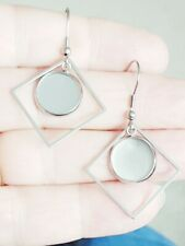 3 Pairs Stud Dangling 316 Stainless Steel Earring cabochon blank setting Diamond