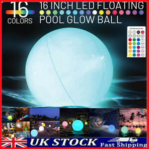 Jumbo Giant LED Solar Outdoor Garden Ball Coulour Remote Control Globe Light UK