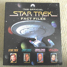 STAR TREK OFFICIAL FACT FILES / BINDER / SECTION 3 / WITH 10 FACT FILES MAGS