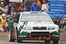 "Rally Driver Didier Auriol Hand Signed Photo Autograph Sokda 12x8"" E"
