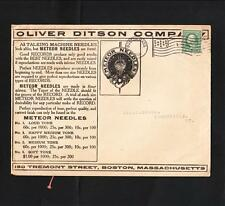 Oliver Ditson Meteor Talking Machine Needles Record 1912 Boston Flag #4 Cover  N