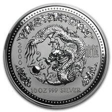2000 Australia 10 oz Silver Year of the Dragon BU