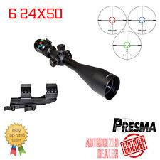 PRESMA HAWK Rifle Scope 6-24X50 w/ Side Focus & Sunshade RGB