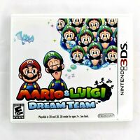 Mario and Luigi: Dream Team (Nintendo 3DS, 2013) with Manuals Paperwork Case