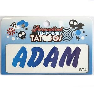 Personalised Boys Temporary Tattoo - 105 Names to choose from