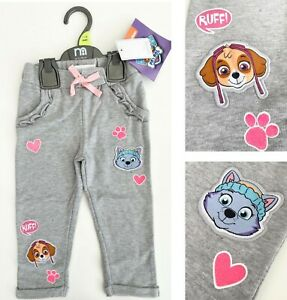 MOTHERCARE Girls Paw Patrol Skye Everest Grey Pink Tracksuit Jogging Bottoms NEW
