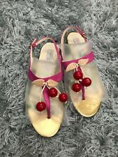 $795 Stella McCartney Pink Gold Cherry Flats Thong Sandals 39.5 (US 9) SALE!