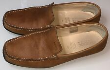 Mens GEOX Respira Brown Size EUR 44 Leather Casual Loafers Shoes