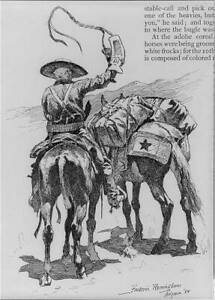 Photo:Drawing,Frederic Remington,1889-1906,US Cavalry scenes 1 6732