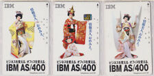 LOT 3 télécartes JAPON - IBM - FEMME GEISHA - WOMAN JAPAN phonecards