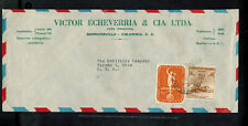 Bus-1203*Colombia 1955 Commercial Air Mail Cover *Barranquilla To Toledo, Oh