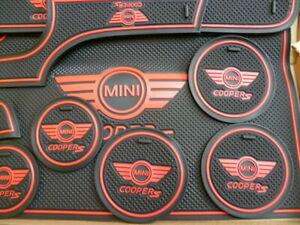 MINI (F56 - 2Dr ) 2014 -2020 INTERIOR DASH MAT GATE PAD SET COOPER 'S' RED ONLY