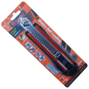 Asaki 5 Blade Self Loading Utility Knife 50% Sharper with Triple Cutting Edges