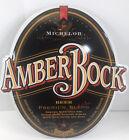 Michelob AMBER BOCK Vintage  Bar Decor Beer Tin Metal Sign 1995 Anheuser 26 x 24